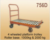 4 Wheeled Roller Base Platform Trolley
