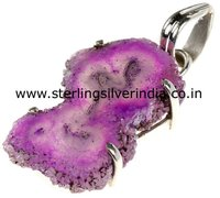 Amethyst Flower Druzy Pendants
