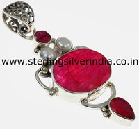 Ruby, Pearl Pendants