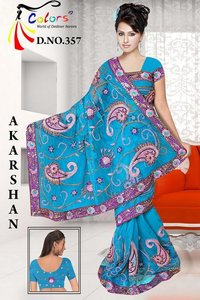 Nett Keri Resham Work Saree
