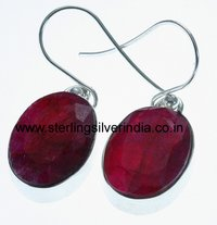 7 Grams Ruby Earring