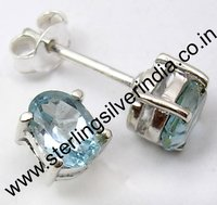 2 Grams Blue Topaz Earring