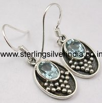 7 Grams Blue Topaz Earring