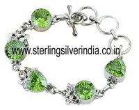 Peridot Quartz Bracelet