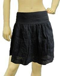 Ladies Black Short Skirt