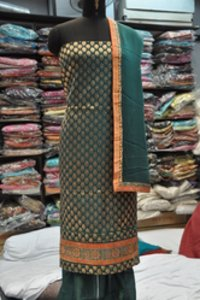 Chanderi With Zari Border Suits