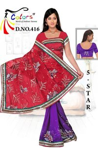 Nett Pallu + Shiffon Saree