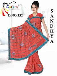 Nett Resham Butta + Sequence Work Saree