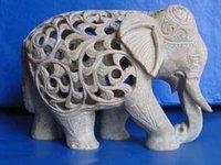 Designed Marble Elephant