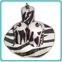 Zebra Designer Candles