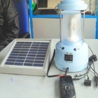 Solar Lantern With Multiple Pin Mobile Charger