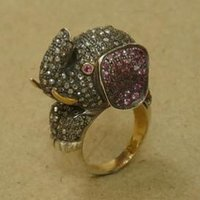 Elephant Diamond Ring