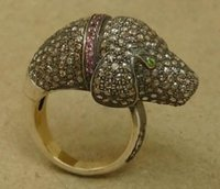 Dog Pave Diamond Ring