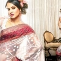 White With Red Border Saree