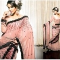 Light Peach Saree