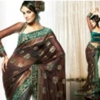 Brown Colour Saree