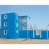 Modular Building On The Base Of Collapsible Block Containers