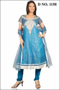Printed Anarkali Suit