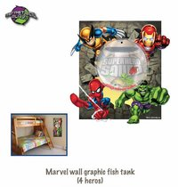 Marvel Wall Graphic Fish Tanks (4 Heroes)