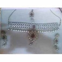 Necklace With Matching Tikka And Earrings