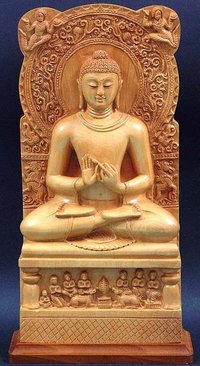 Yellow Marble Buddha Statue