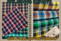 100% Cotton Yarn Dyed Checked Fabrics