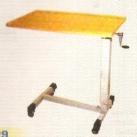 Overbed Table (Adjustable) Bygear With Wooden Top