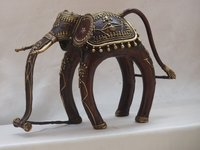 12 Inches Brass Elephant