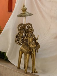 Brass Elephant Idol