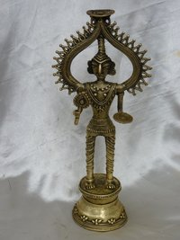 Tribal God Brass Idol