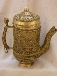 Tribal Brass Jug