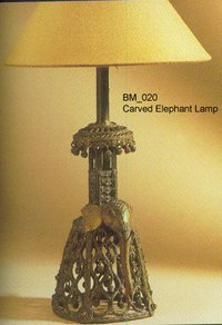 Covered Elephant Lamp