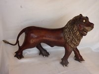 Decorative Brass Lion Statue