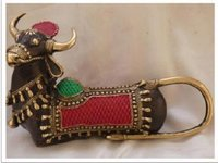Decorative Brass Nandi Statue