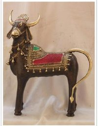 Designer Brass Nandi Statue