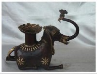 Designer Elephant Brass Idol