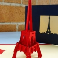 Eiffel Tower Handmade 3D Pop Up Greeting Card