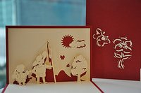Brothers Handmade 3D Pop-Up Greeting Card