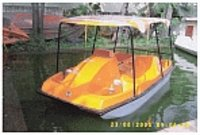 Four Seater Pedal Boat With Frp Canopy Top