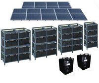 4500W Solar Panel Stored Power Generator with Optional AC Input