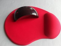 Promotional Gel Mouse Pad With Wrist Rest Red