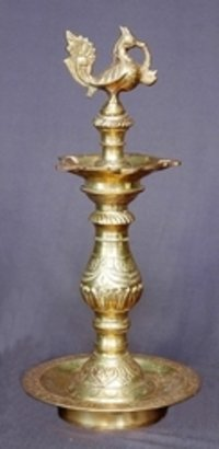 Indian Decorative Brass Oil Lamp