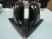 Spoon Style Carbon Fiber Rear View Side Mirrors