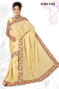 Yellow Light Weight Saree