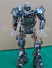 Small Metal Transformer Statue