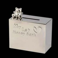 Money Box With Bear On Top