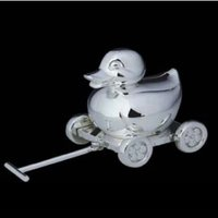 Duck With Cart Shape Money Box
