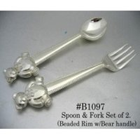 Spoon & Fork With Bear Handle