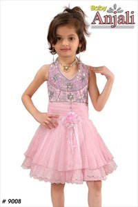 Pink Color Girl Frocks