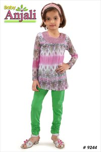 Pink Color Full Sleeves Girls Kurti